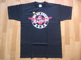 A.C.A.B. čierne pánske tričko NO GO AREA FOR BASTARDS 100%bavlna posledné  kusy