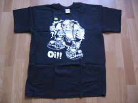 Oi!  pánske tričko čierne tričko 100%bavlna