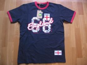 England, pánske tmavomodré vyšívané tričko 100%bavlna posledné kusy veľkosti M, L, XL