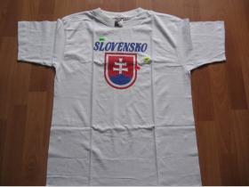 Slovensko, pánske biele tričko 100%bavlna