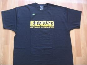 Ultras weekend čierne pánske tričko 100%bavlna