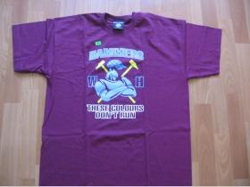 Hammers - West Ham United - bordové pánske tričko 100%bavlna