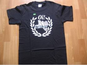 Oi! -boty čierne pánske tričko 100%bavlna