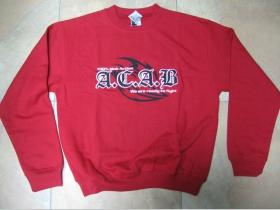 A.C.A.B.  Wea are ready to Fight červená mikina bez kapuce  80%bavlna 20%polyester