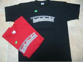 Tričko - Fussballrocker - červené a čierne pánske tričko 100%bavlna