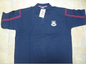 West Ham United pánska polokošeľa - modrá 100%bavlna