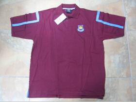 West Ham -pánska polokošeľa bordová 100%bavlna, posledný kus veľkosť XL