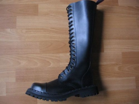 Kožené topánky Steady's 20 dierkové s prešívanou oceľovou špičkou