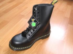 """Obuv Dr. Martens 1919z  10dierkové, čierne kožené topánky s oceľovou špičkou """"ťažké boty"""""""