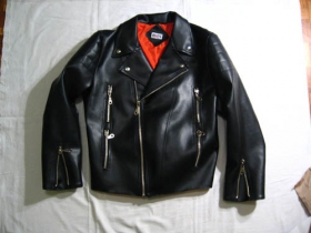 Sidovka, čierna koženková bunda Sida s čiernou!!! podšívkou - Křivák ,veľkosti pánske aj dámske, materiál zvonku koženka - podšívka nylón