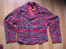 """Sidovka dámska """"škótske káro"""" textilná s odopínateľnými rukávmi"""