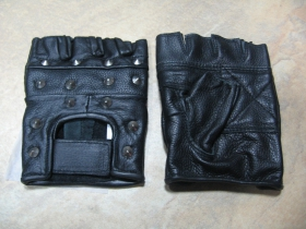 """kožené rukavice, vybíjané """"bez prstov"""""""