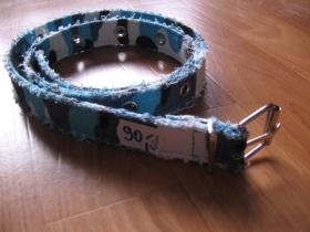 Opasok dievčenský 2,5 cm šírka - modré metro