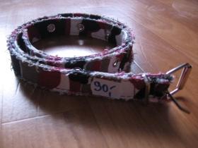 Opasok dámsky 2,5 cm šírka - maskáč vzor červené metro