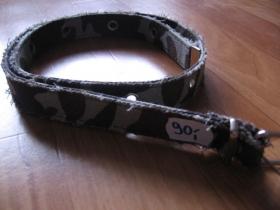 Opasok dámsky 2,5 cm šírka - zeleno-šedo-hnedý maskáč