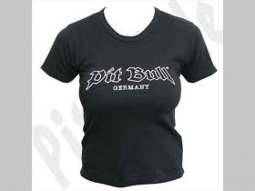 Pit Bull  G 0403  dámske tričko čierne 100%bavlna