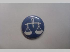Znamenie Váhy, odznak priemer 25mm
