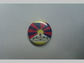 Tibet vlajka, odznak priemer 25mm