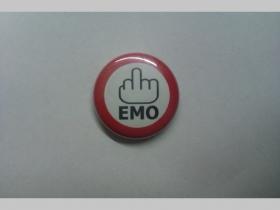 Fuck Emo, odznak priemer 25mm