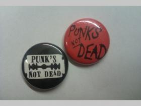 Punks not Dead, odznak priemer 25mm cena za 1ks