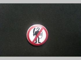 Stop Police, odznak priemer 25mm