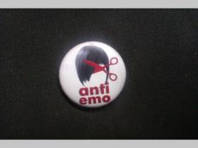 Anti Emo, odznak priemer 25mm
