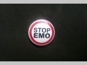 Stop Emo, odznak priemer 25mm