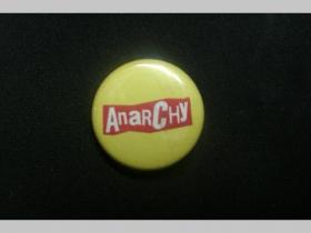 Anarchy, odznak priemer 25mm