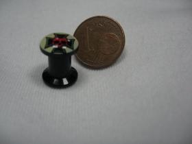 Kríž s lebkou, čierny plastový tunel s vnútorným priemerom  6mm cena za 1ks!!!