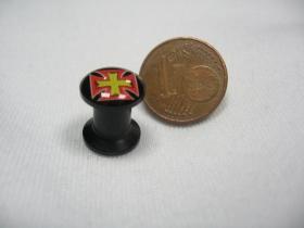 Kríž, čierny plastový tunel s vnútorným priemerom  6mm cena za 1ks!!!