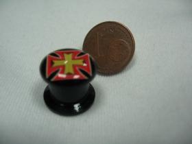 Kríž, čierny plastový tunel s vnútorným priemerom  10mm cena za 1ks!!!