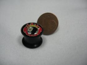 Osmička v plameňoch, čierny plastový tunel s vnútorným priemerom  10mm cena za 1ks!!!