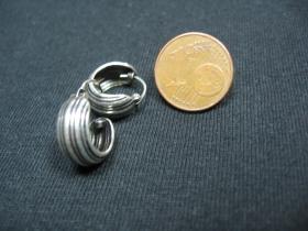 náušnica s ornamentom široká, priemer 13mm (cena za 1pár)
