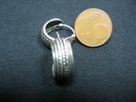 náušnica s ornamentom široká, priemer 14mm (cena za 1pár)