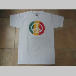 Rasta Peace  pánske tričko 100 %bavlna Fruit of The Loom