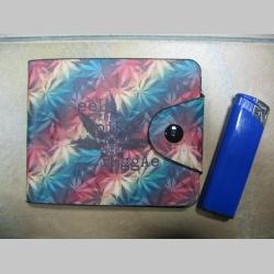 """Rasta """" GANJA """" peňaženka so zapínaním na cvok, materiál: syntetická koža"""