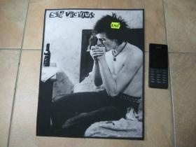 Sex Pistols - Sid Vicious veľká chrbtová nášivka po krajoch obšívaná