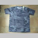 Nočný maskáč, pánske funkčné taktické tričko materiál 100% polyester hladký