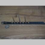 1.radový kožený náramok vybíjaný chrómovanými dlhými špicami (nastaviteľný obvod)