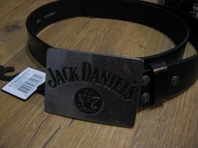 Jack Daniels kožený opasok s kovovou prackou posledný kus!!!! obvod pásu od 86 do 104cm