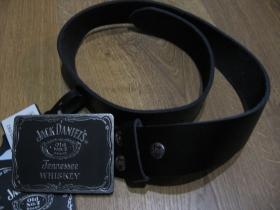 Jack Daniels kožený opasok s kovovou prackou posledný kus!!!! obvod pásu od 68 do 80cm