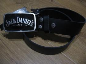 Jack Daniels kožený opasok s kovovou prackou posledný kus!!!!  obvod pásu od 68 do 78cm