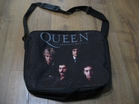 Queen pevná textilná taška cez plece, nastaviteľný pás materiál 100%polyester rozmery cca.38x31x10cm ( vhodná aj pre notebook )