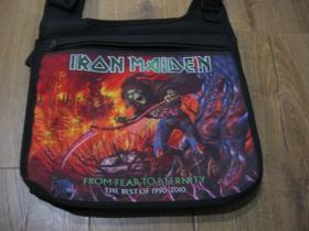 Iron maiden  textilná taška cez plece, nastaviteľný pás materiál 100%polyester rozmery cca.32x25x10cm
