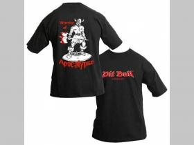 Pit bull TS 04123 čierne tričko obojstranná potlač  100%bavlna