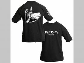 Pit bull TS 04127 čierne pánske tričko, obojstranná potlač  100%bavlna
