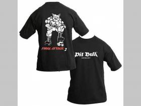 Pit Bull TS 0492 čierne pánske tričko FINAL ATTACK  100%bavlna