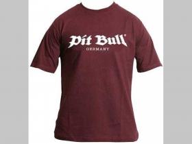 Pit Bull TS 0701 pánske tričko Bordové 100%bavlna