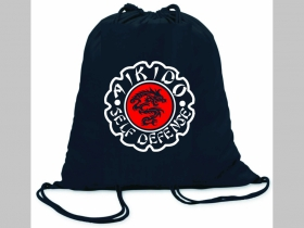 Aikido ľahké sťahovacie vrecko ( batôžtek / vak ) s čiernou šnúrkou, 100% bavlna 100 g/m2, rozmery cca. 37 x 41 cm