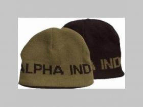 Alpha Industries, obojstranná pletená čiapka oliovočierna